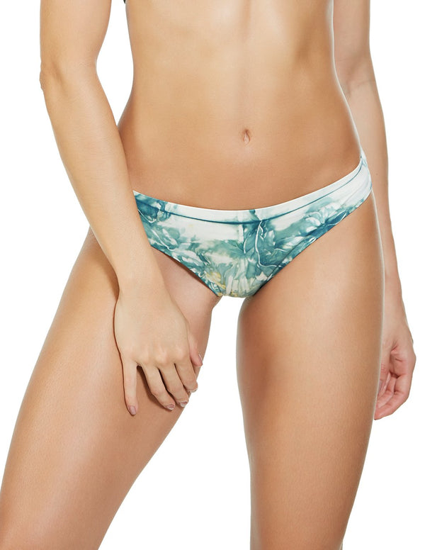 Soil 3 Bottom. Hand-Dyed Cheeky Bikini Bottom In Selene. Entreaguas