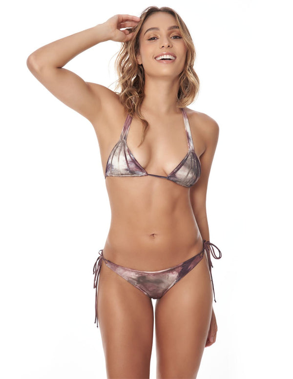 Water & Star Two Piece Storm. Hand-Dyed Two Piece Bikini Set In Storm. Entreaguas