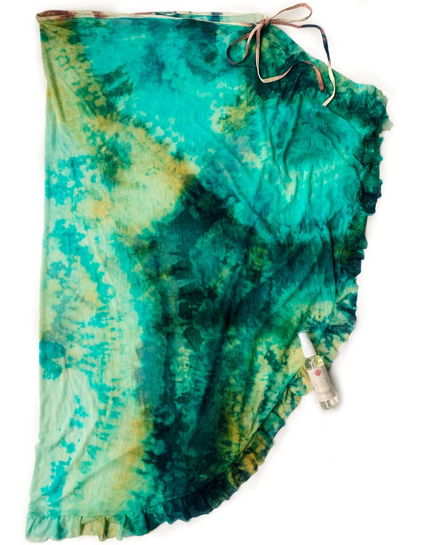 Bundle: Beach Wrap, Splash San Andres. Hand-Dyed Beach Wrap, Splash In San Andres. Entreaguas