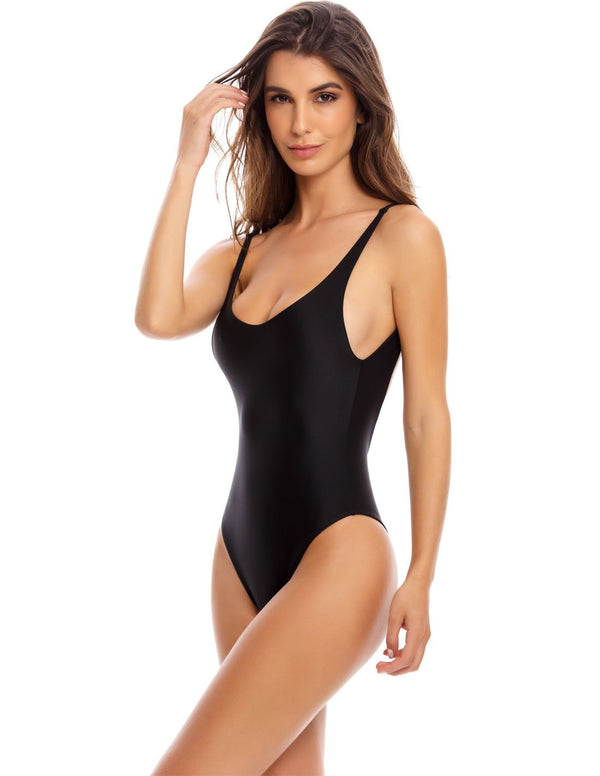 Derivé One Piece Black. One Piece Swimsuit In Black. Entreaguas