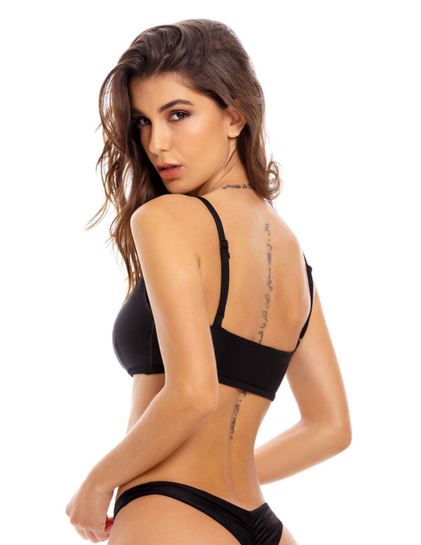 Resfeber Top Black. Bikini Top In Black. Entreaguas