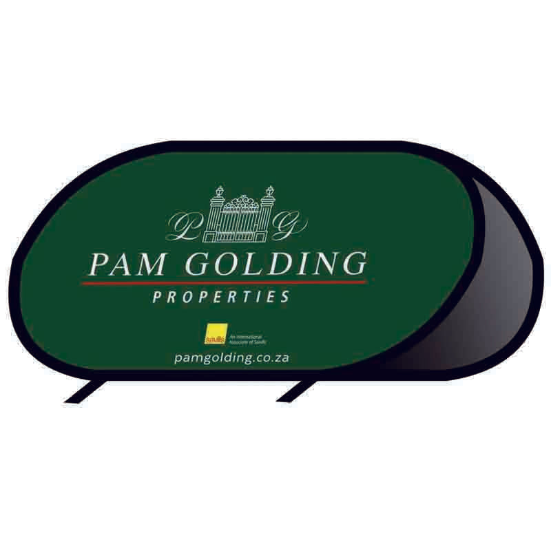 Custom Printed Oval Pop Up Banners - 314display