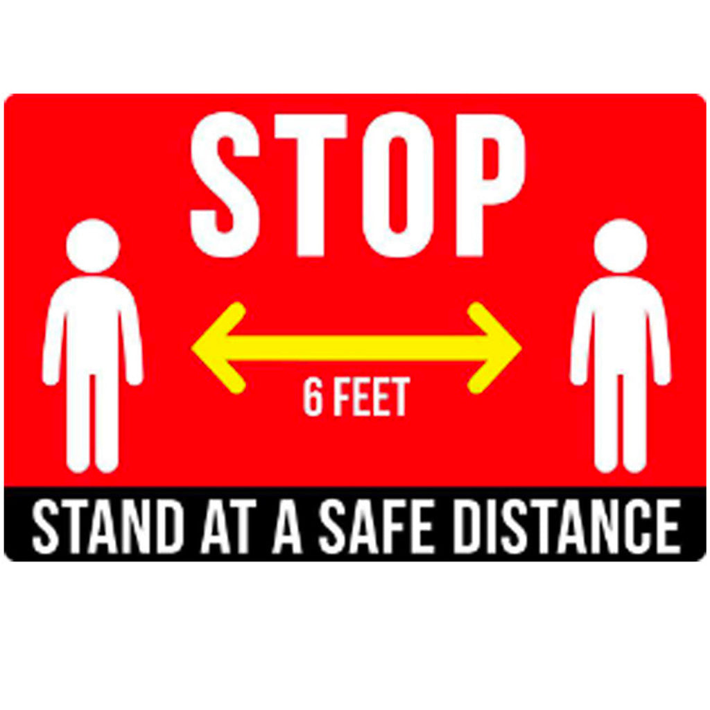 "Floor Decal ""STOP"" 12""X18"" PCS - 314display"