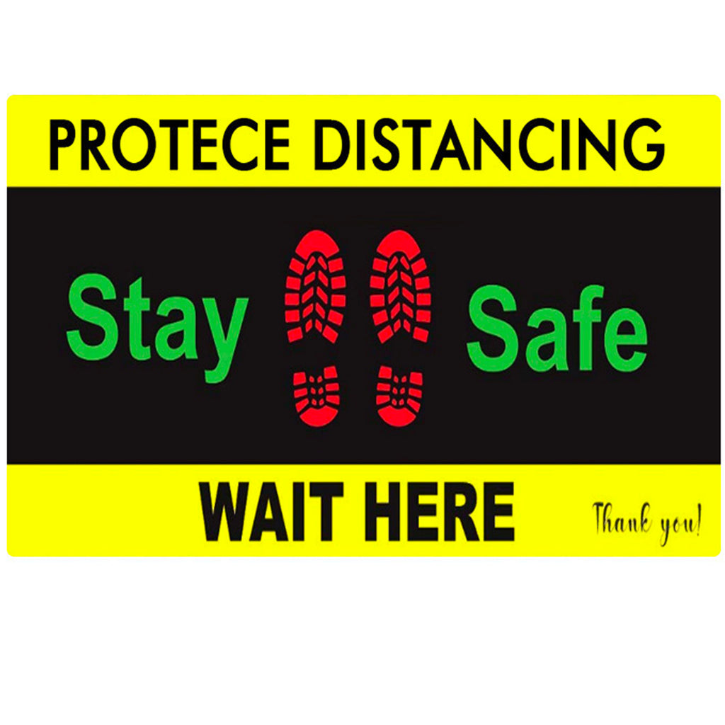 "Floor Decal ""Stay Safe"" 12""X18"" PCS - 314display"