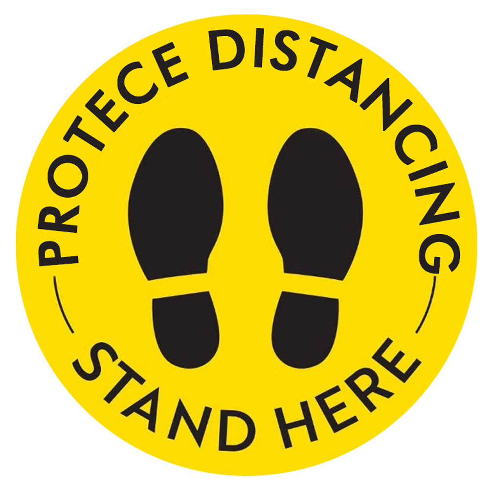 "Floor Decal ""Protect Distancing"" 12""X12"" PCS - 314display"
