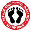 "Floor Decal ""Please Keep Social Distance"" 12""X12"" PCS - 314display"