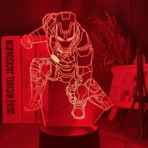 Lampe 3D Atterrissage Iron Man