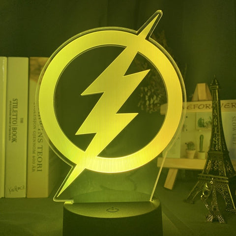 Lampe 3D Logo Flash | Univers Lampe