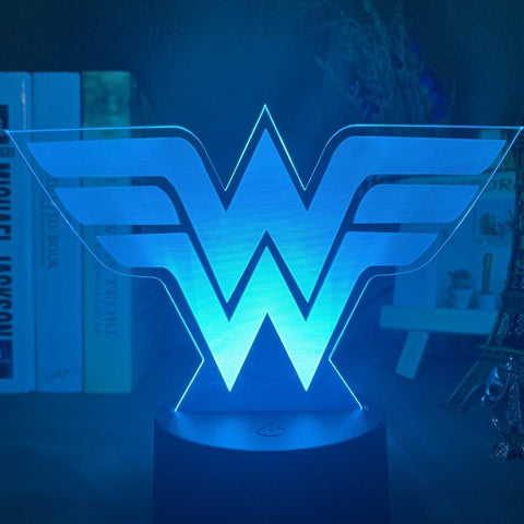 Lampe 3D Logo Wonder Woman