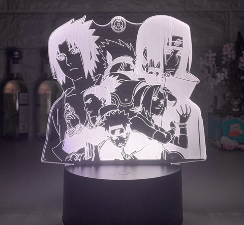 Lampes 3D Personnages Naruto