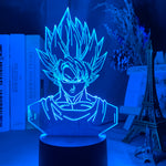 Lampe effet 3D Goku Dragon Ball