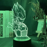 Lampe illusion 3D Dragon Ball Prince Vegeta