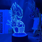 Lampe 3D Dragon Ball Prince Vegeta