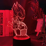 Lampe led 3D Dragon Ball Prince Vegeta
