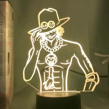 Lampe 3D One Piece Portgas D. Ace