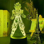 Lampe led 3D Dragon Ball Goku Super Saiyan