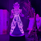 Lampe illusion 3D Goku Super Saiyan