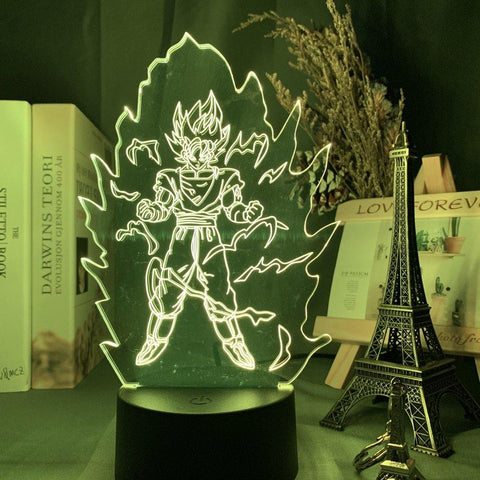 Lampe 3D Dragon Ball Transformation Saiyan