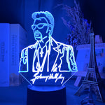 Lampe 3D Johnny Hallyday