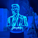 Lampe 3D led Johnny Hallyday