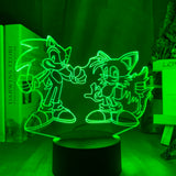 Lampe 3D led Sonic Tails