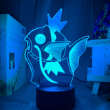 Lampe 3D Magicarpe Pokemon