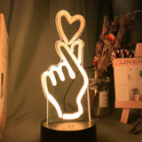 Lampe hologramme 3D Love