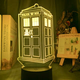 Lampe 3D Doctor Who Tardis