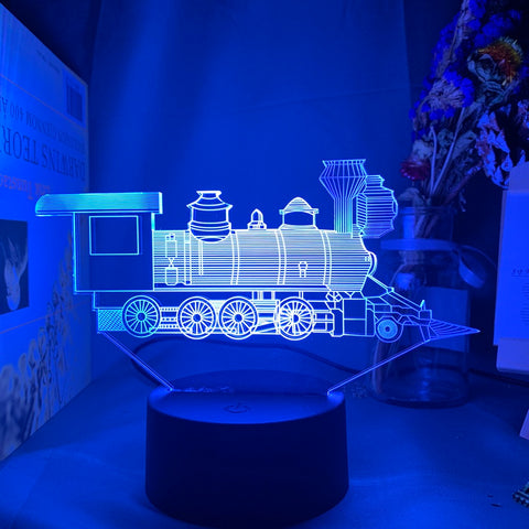 Lampe 3D Locomotive