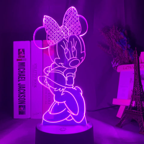 Lampe 3D Minnie Mouse