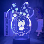 Lampe 3D led Minnie