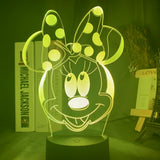 Lampe hologramme 3D Minnie