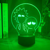 Lampe hologramme 3D Rick & Morty Silhouettes
