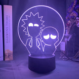 Lampe led illusion 3D Rick & Morty Silhouettes