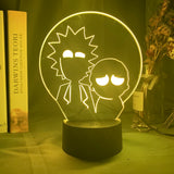 Lampe illusion 3D Rick & Morty Silhouettes