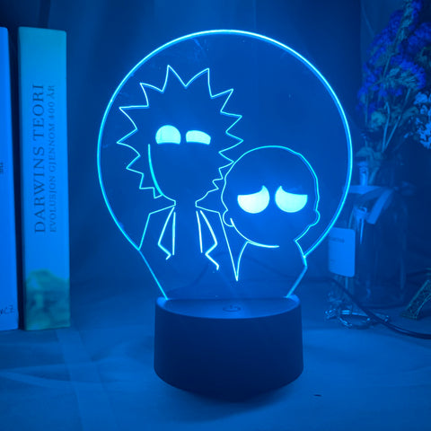 Lampe 3D Rick & Morty Silhouettes