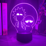 Lampe led 3D Rick & Morty Silhouettes