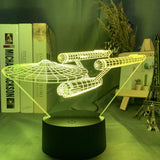 Lampe Led 3D Star Trek NCC 1701