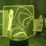 Lampe Led 3D Green Arrow DC