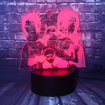 Lampe 3D LED Personnages Naruto