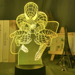 Lampe 3D Led Spider-Man