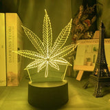 Lampe illusion 3D Cannabis