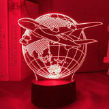 Lampe Led 3D Avion ligne