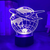 Lampe 3D Led Avion ligne
