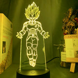 Lampe led 3D Vegeta Super Saiyan 4