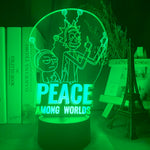 Lampe 3D Peace Rick et Morty