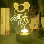 Lampe led 3D Mickey Michael Jackson