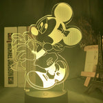 Lampe 3D led Minnie Sirop
