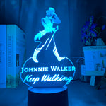 Lampe led 3D Johnnie Walker