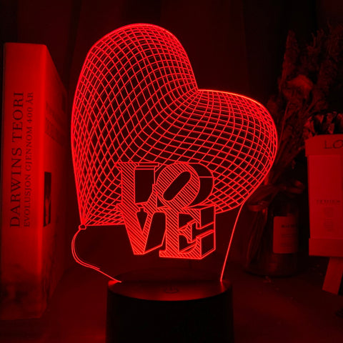 Lampe hologramme 3D led LoVe